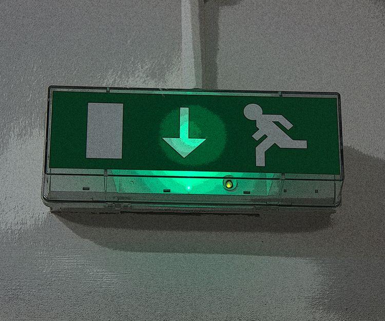 Señalización de salida de emergencia