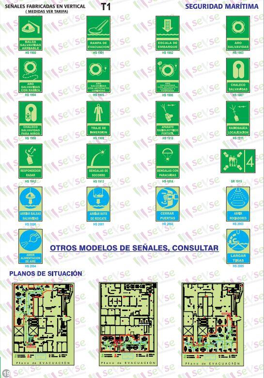 Señales de seguridad marítima y planos de situación: Servicios de Señalización y Serigrafía