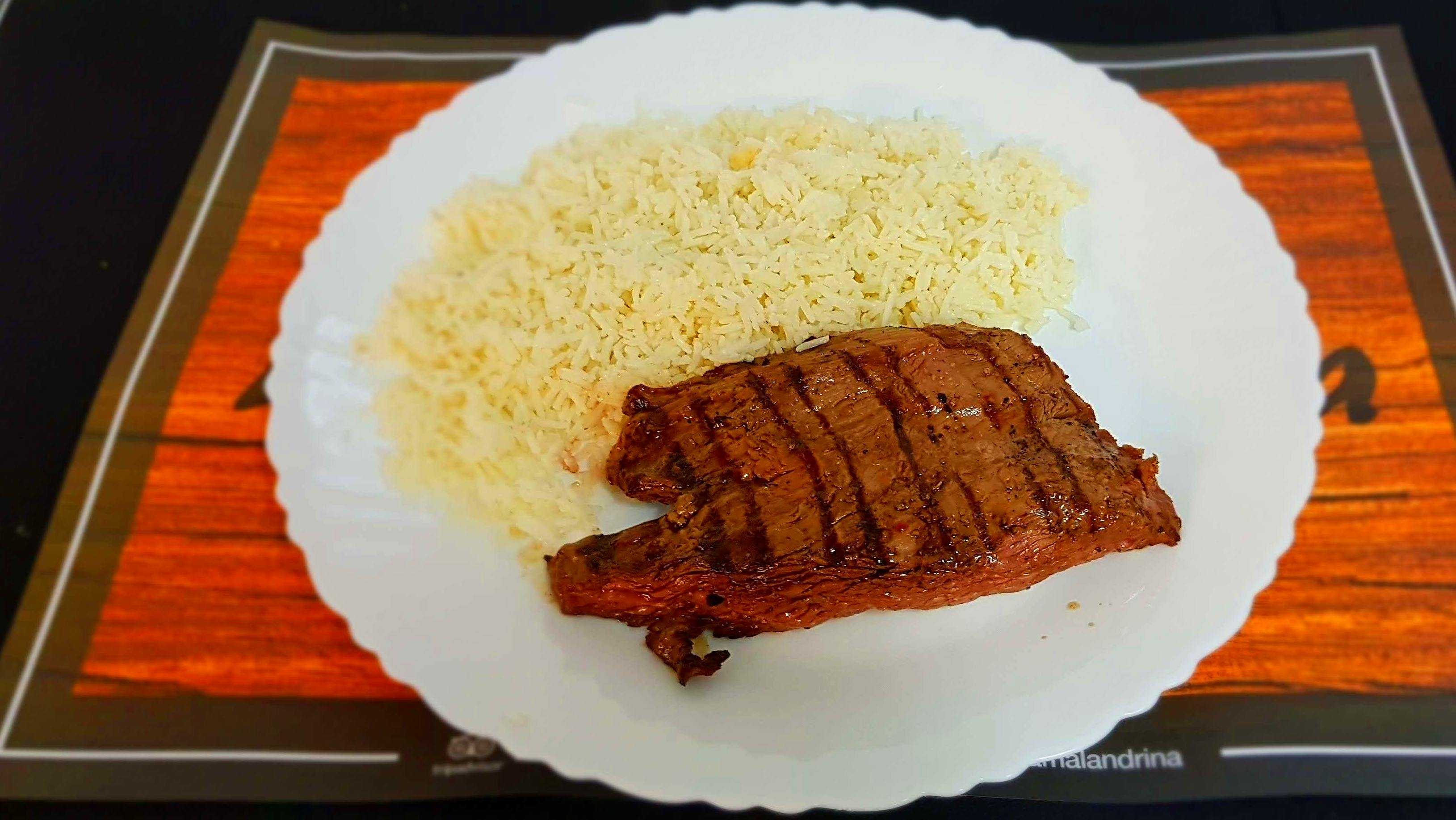 Vacío de ternera con arroz