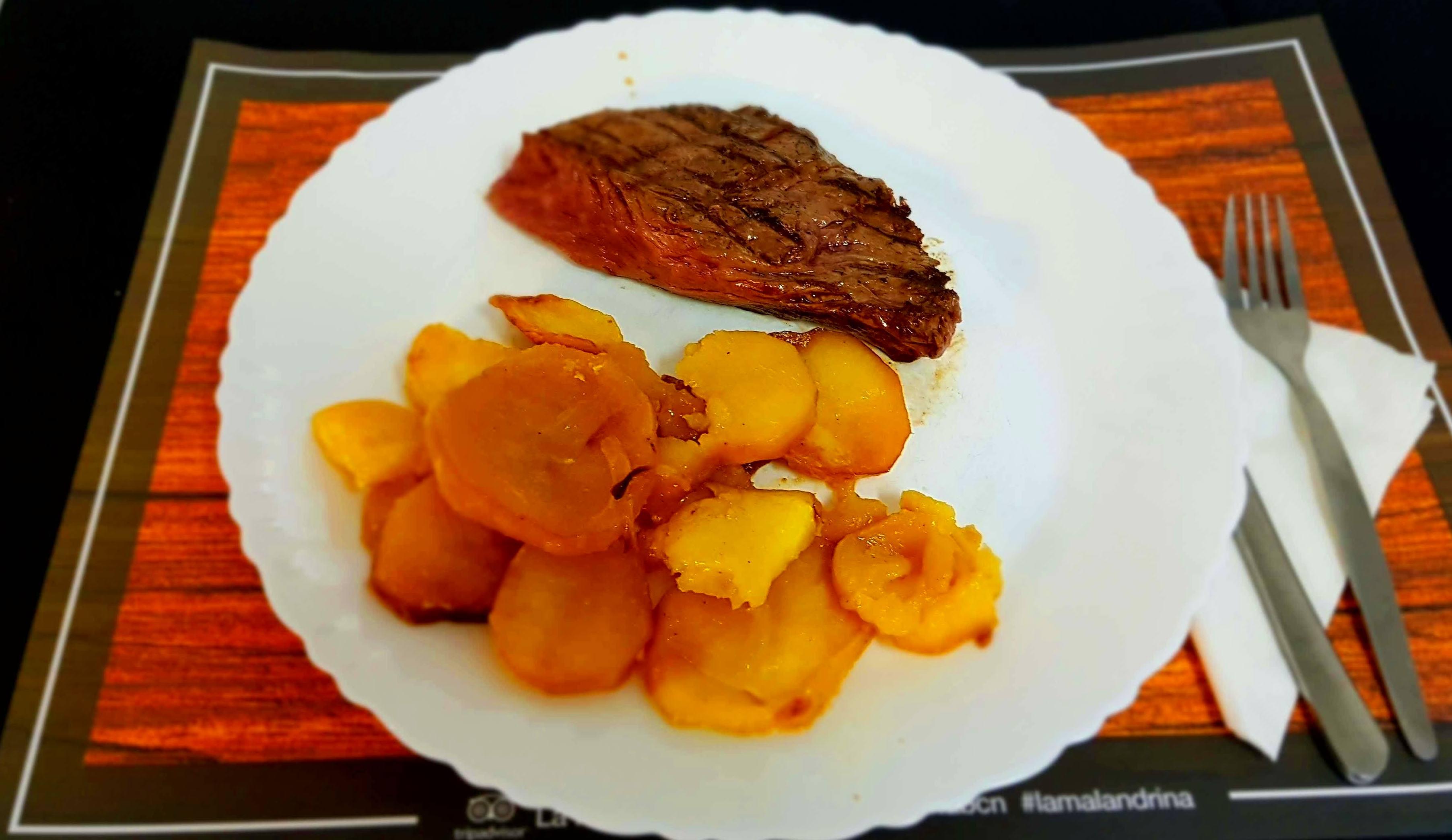 Vacío con patatas al horno