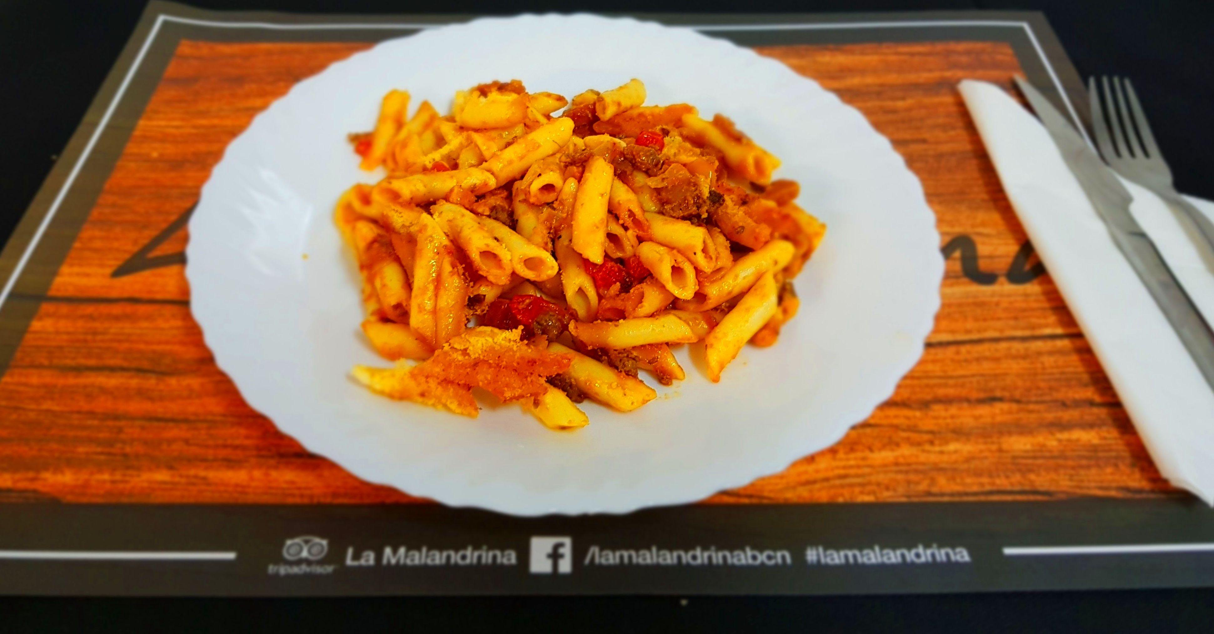 Macarrones con salsa