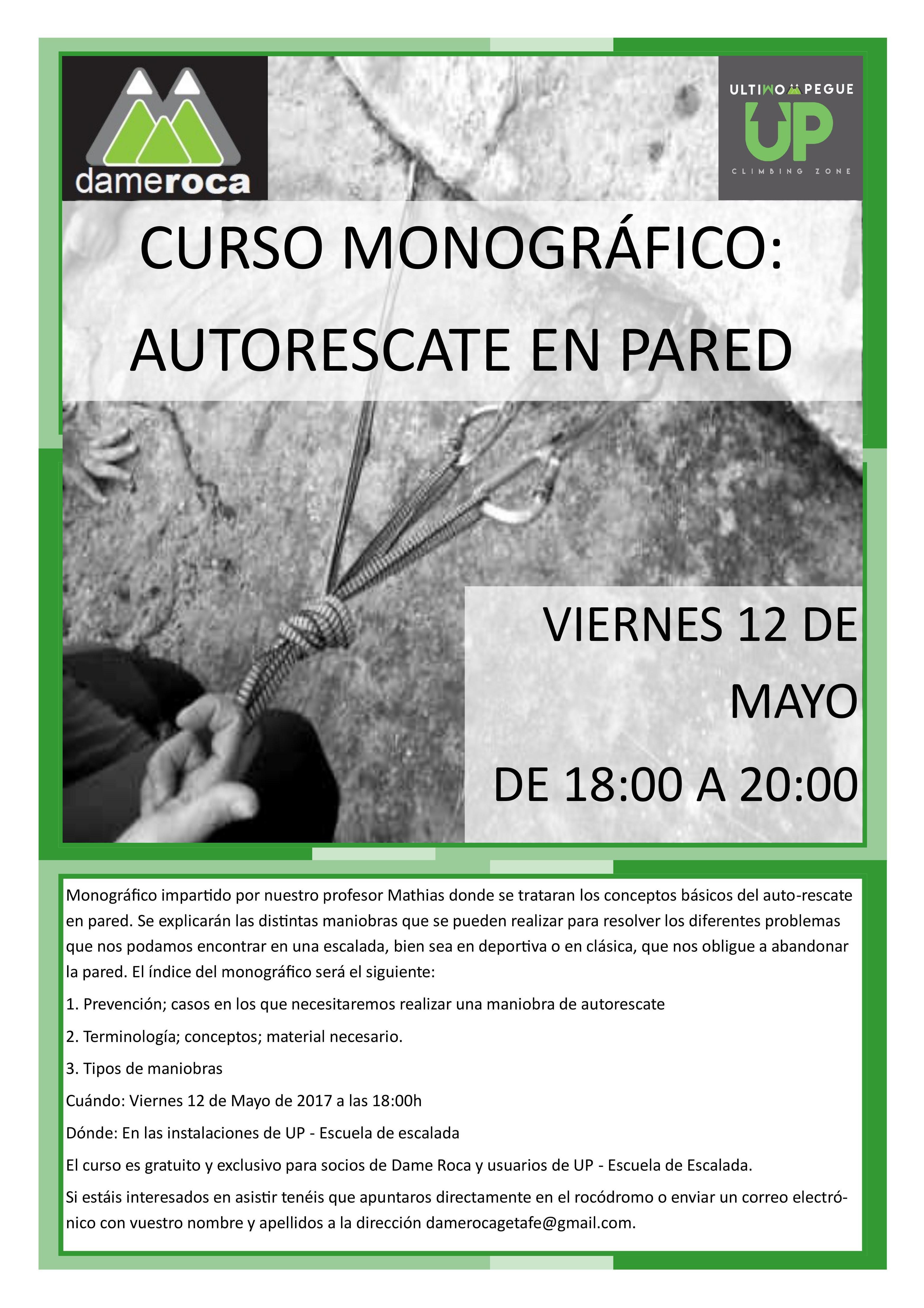 DAME ROCA EN UP ROCÓDROMO MADRID - GETAFE: PRIMER MONOGRAFÍCO