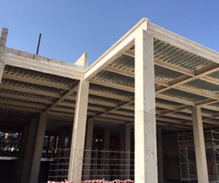 Proyectado ignífugo en estructura del Hotel Mónica Costa Calma