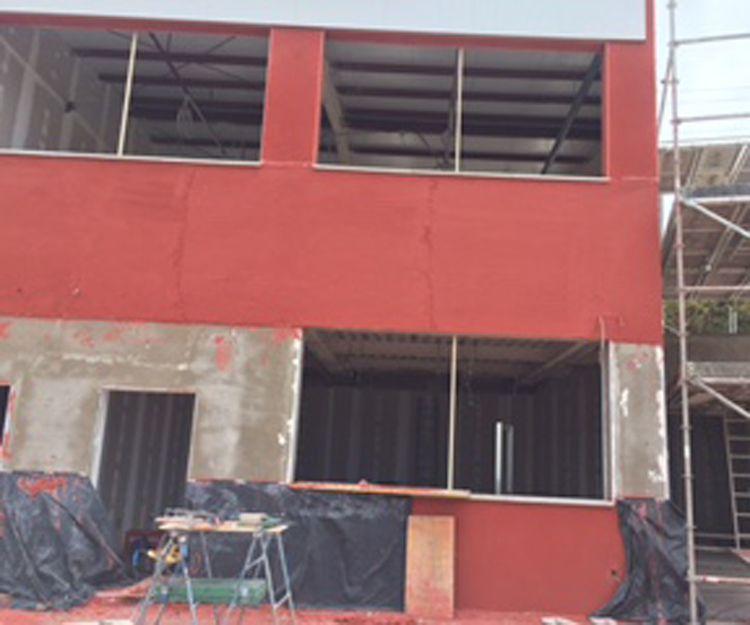 Trabajos de impermeabilización de la fachada del colegio alemán Las Palmas