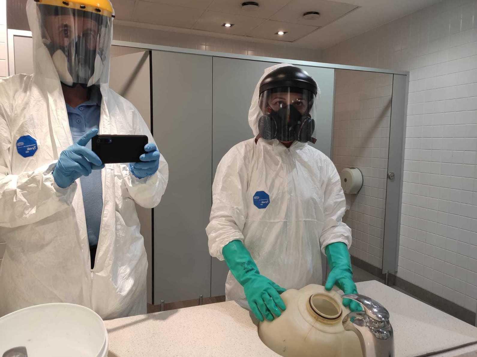 Desinfección contra el coronavirus de locales