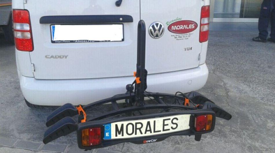 Portabicicleta sobre bola de enganche para dos bicicletas