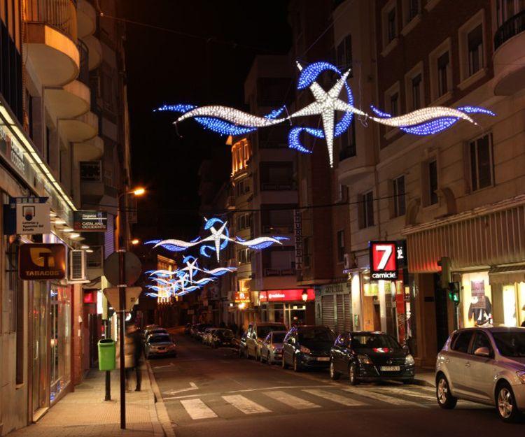 Iluminación para navidad en Ourense