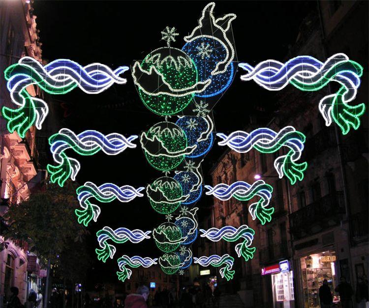 Iluminación para fiestas en Pontevedra