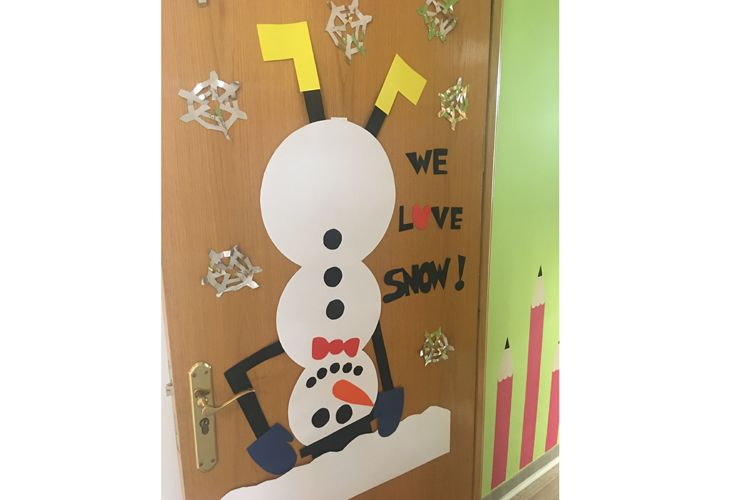 Nuestras puertas siempre están decoradas