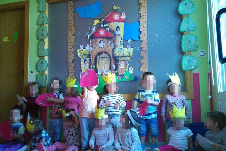 Nuestros peques con la fiesta medieval