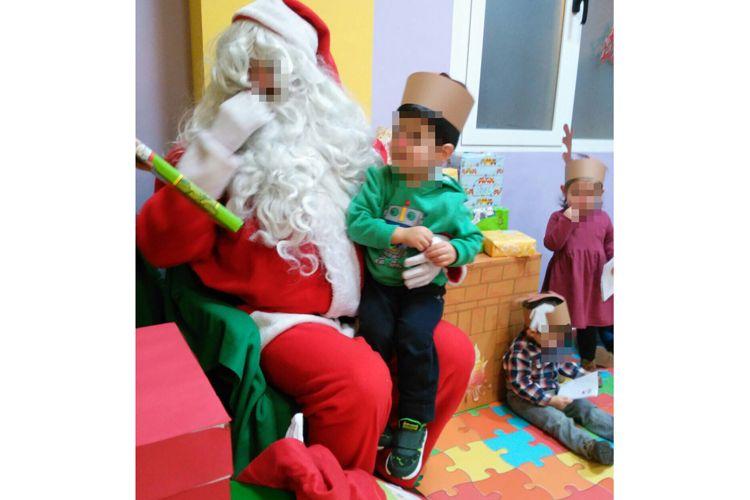 Nuestros peques con Papa Noel