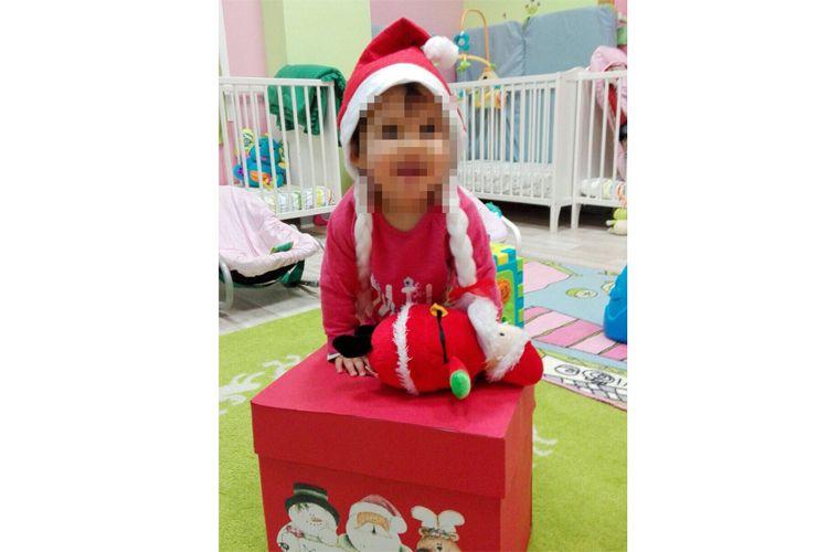 Nuestros peques con sus trajes navideños