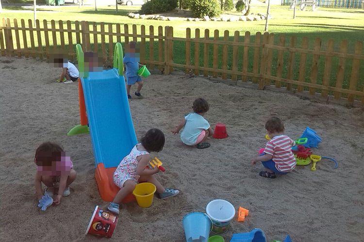 Patio exterior para jugar