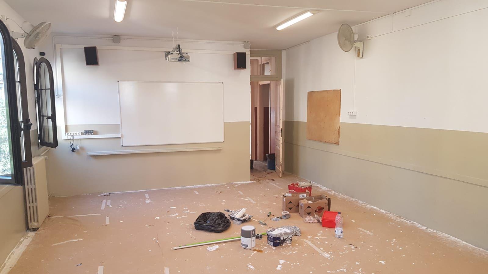 Limpieza y pintura de un colegio - Antes