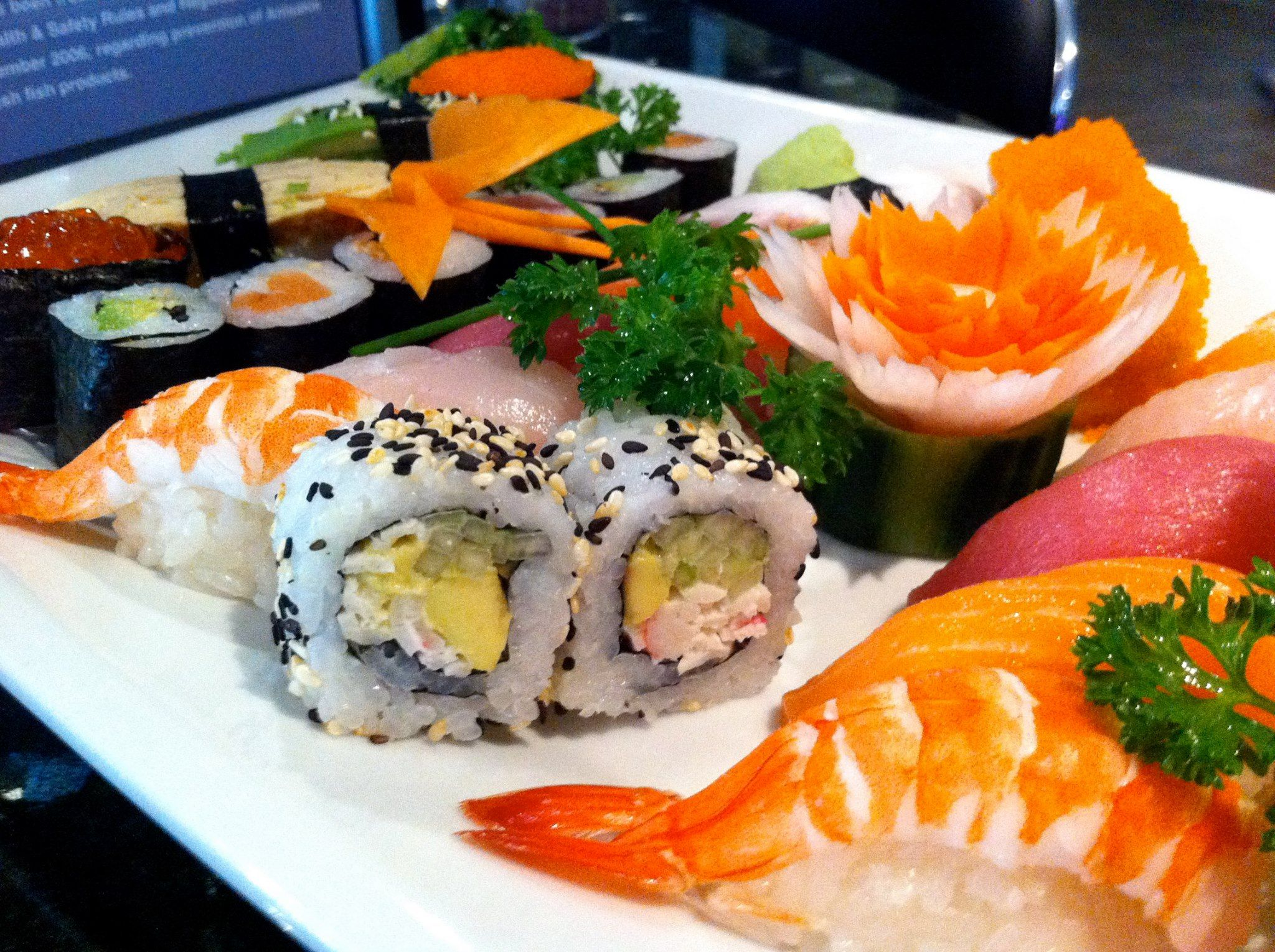The best sushi and high-quality mexican food.