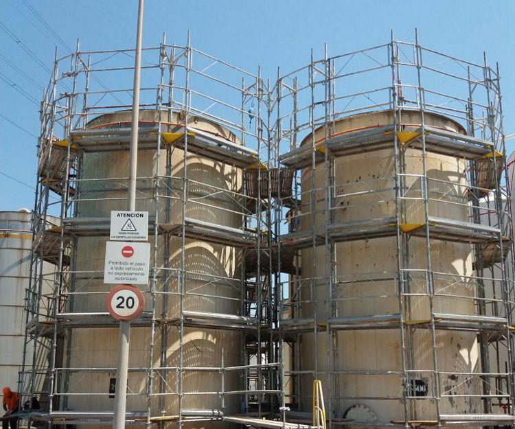 Andamios industriales en Martorell