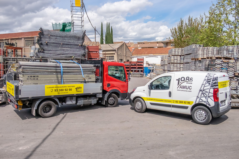 Alquiler de andamios y todo tipo de máquinas para la construcción