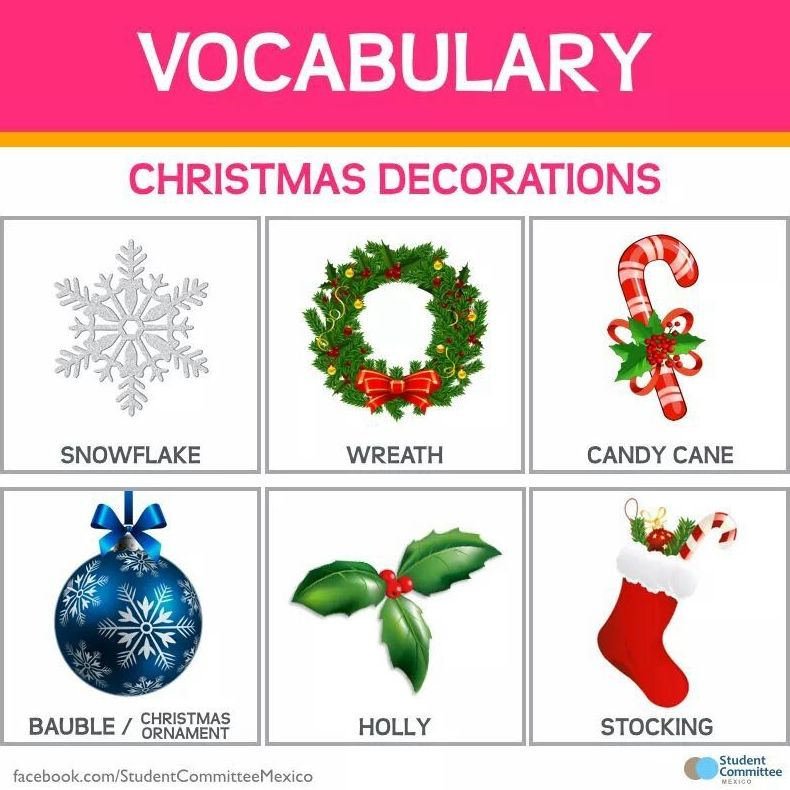 christmas decorations vocabulary wwwindiepediaorg