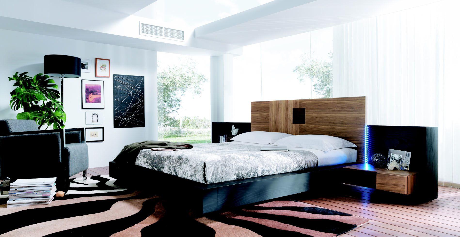 Dormitorio de matrimonio moderno en Gijón