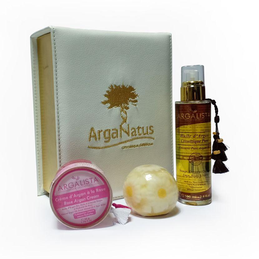 Caja de regalo de Bienestar: Productos de Argan Aceite Puro