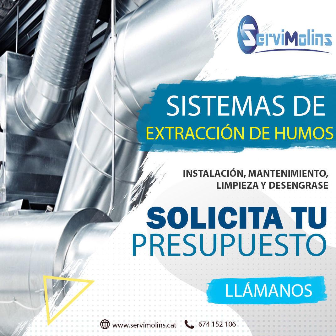sistemas de extracción de humos Cataluña