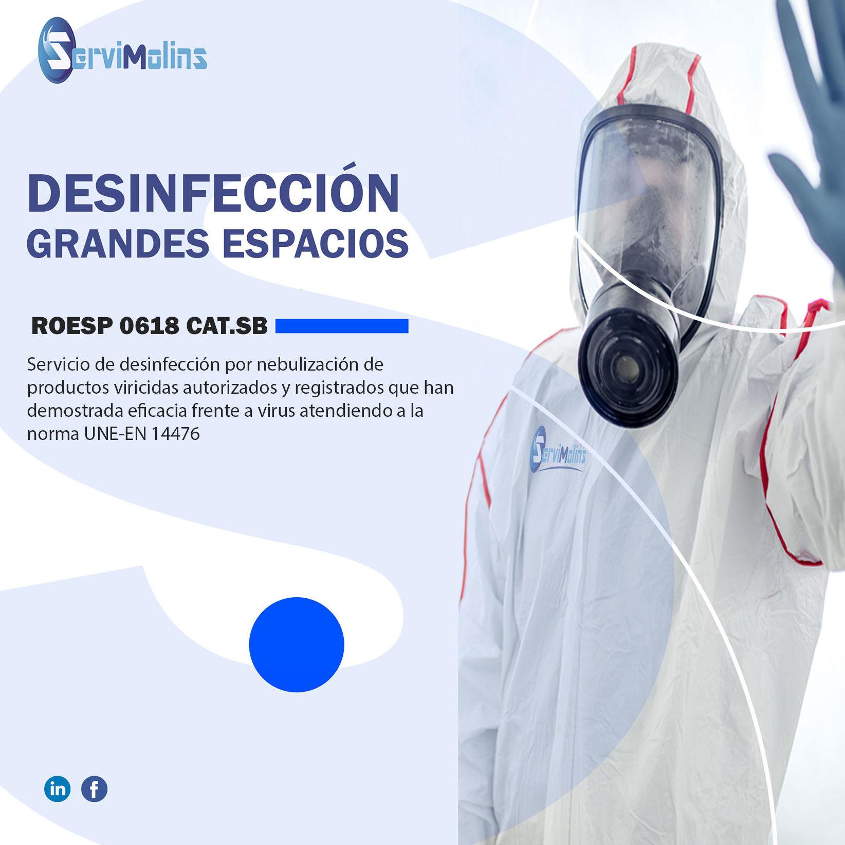 Desinfección- ROESP 0618 CAT-SB:  de Servimolins