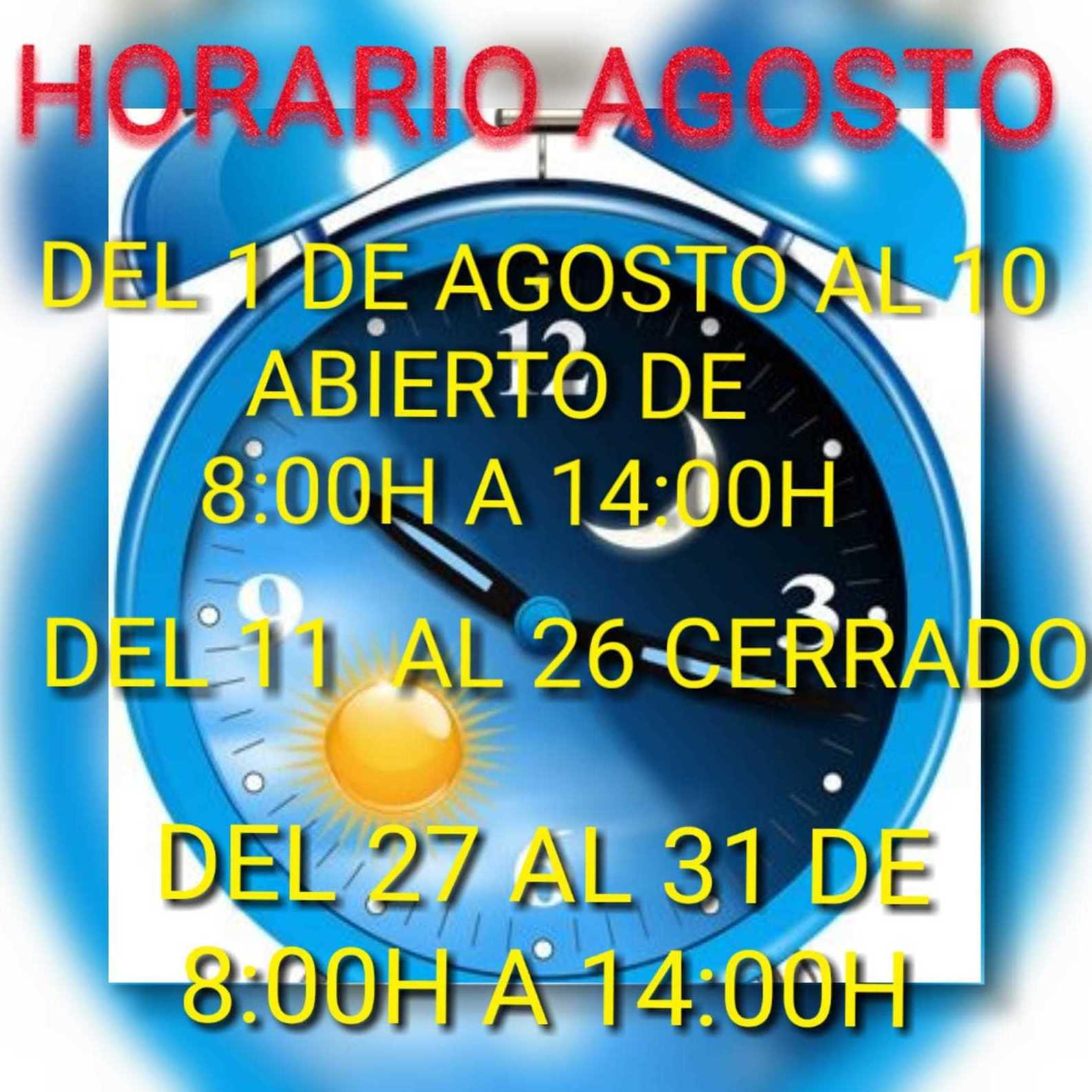 Horario Agosto!!!