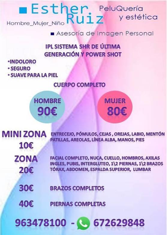 Promocion laser ipl en Valencia