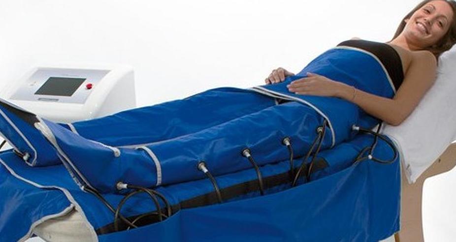 Presión de aire para realizar un drenaje linfático