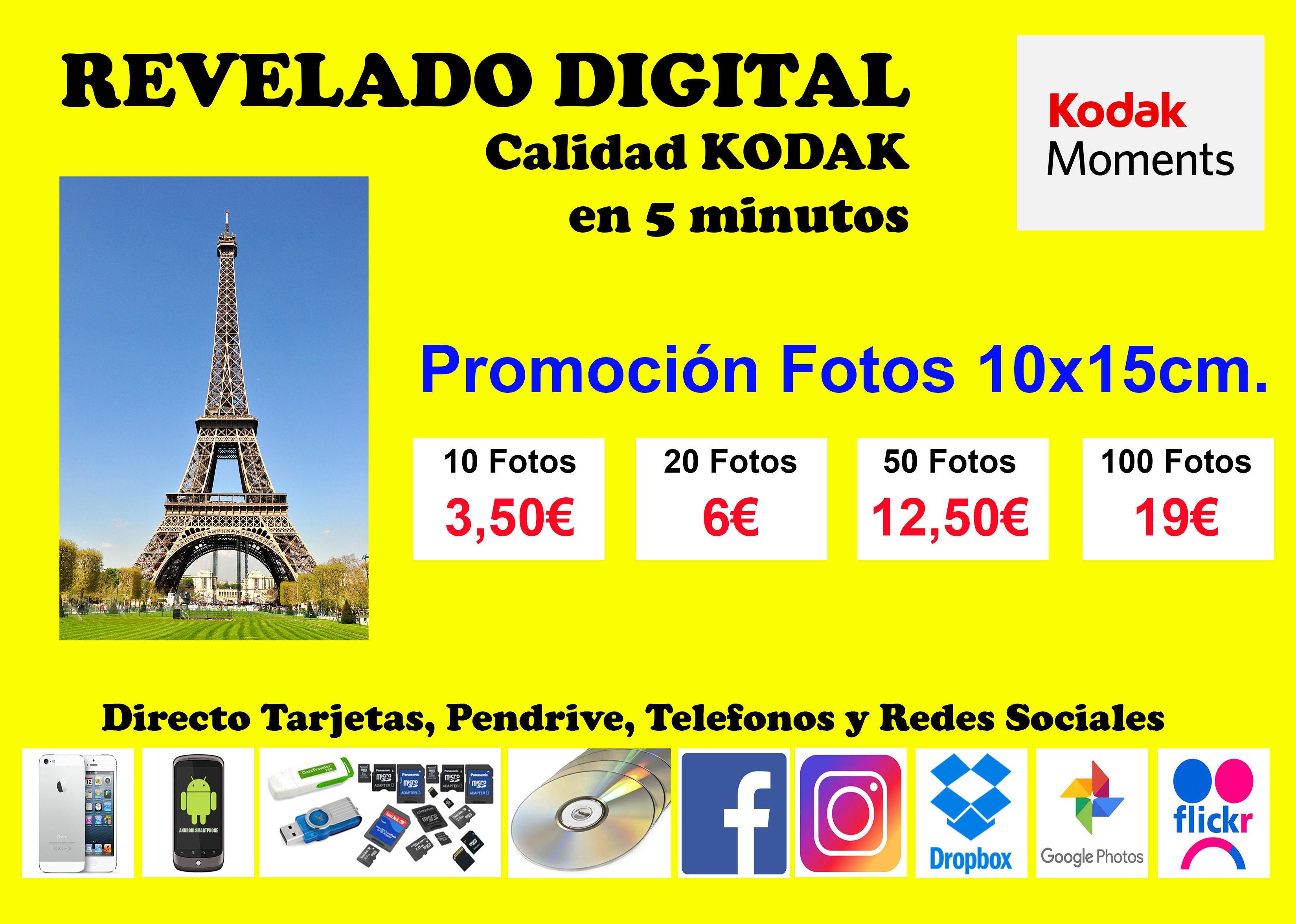 Revelado digital promoción fotos 10x15 cm en Alicante