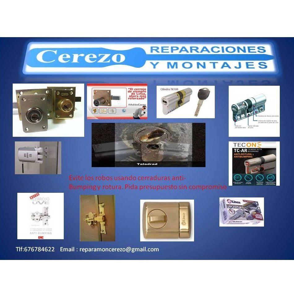 Cerraduras anti bumping: Servicios de Reparaciones y Montajes Cerezo