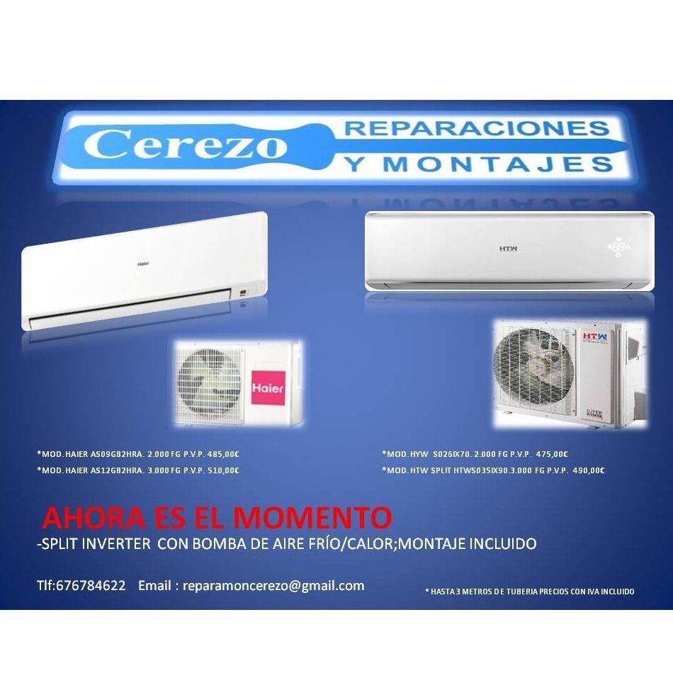 Aire acondicionado: Servicios de Reparaciones y Montajes Cerezo