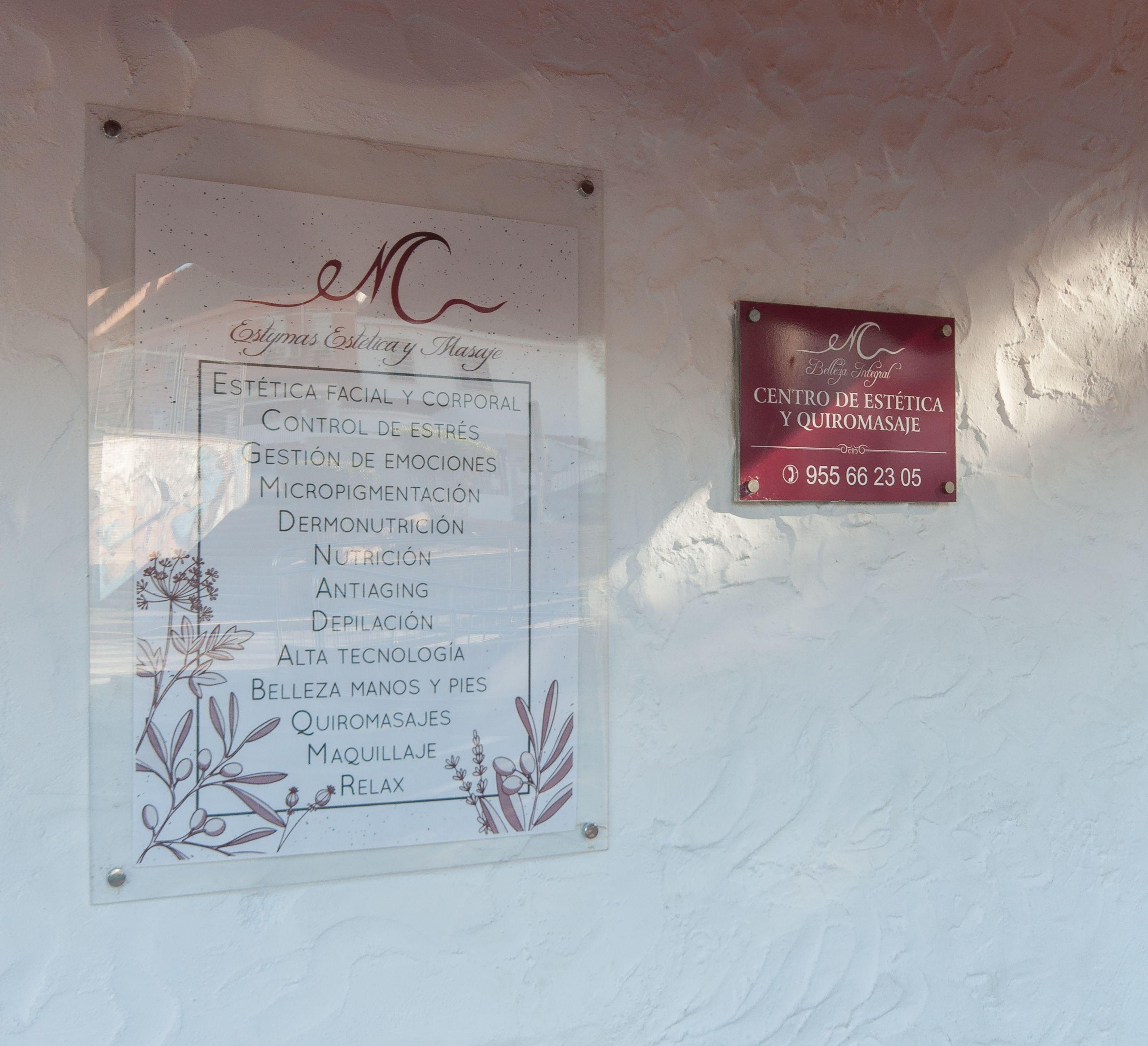 Estética y quiromasaje en Estymas