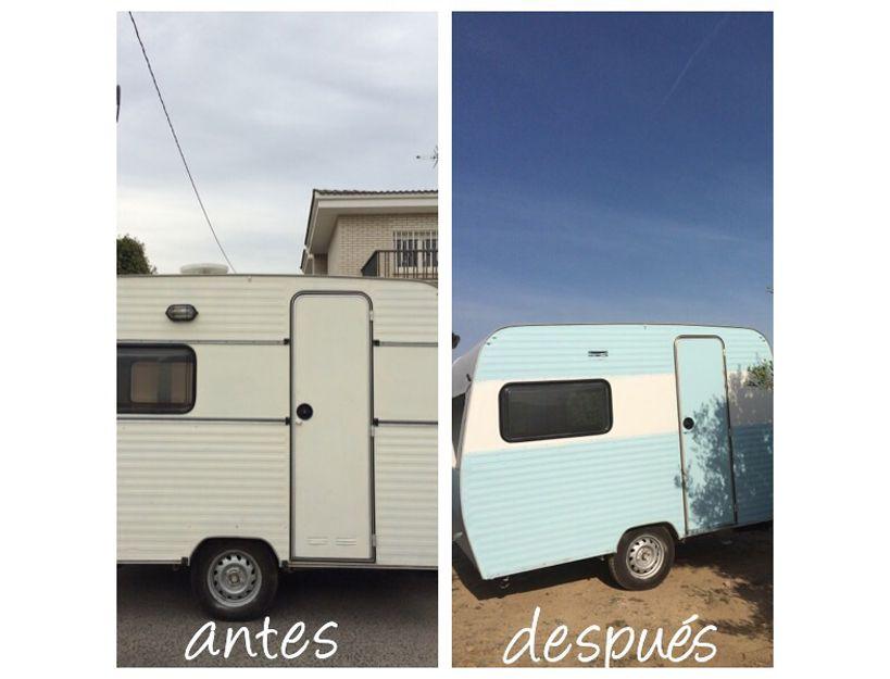 Pintura y restauración de caravana