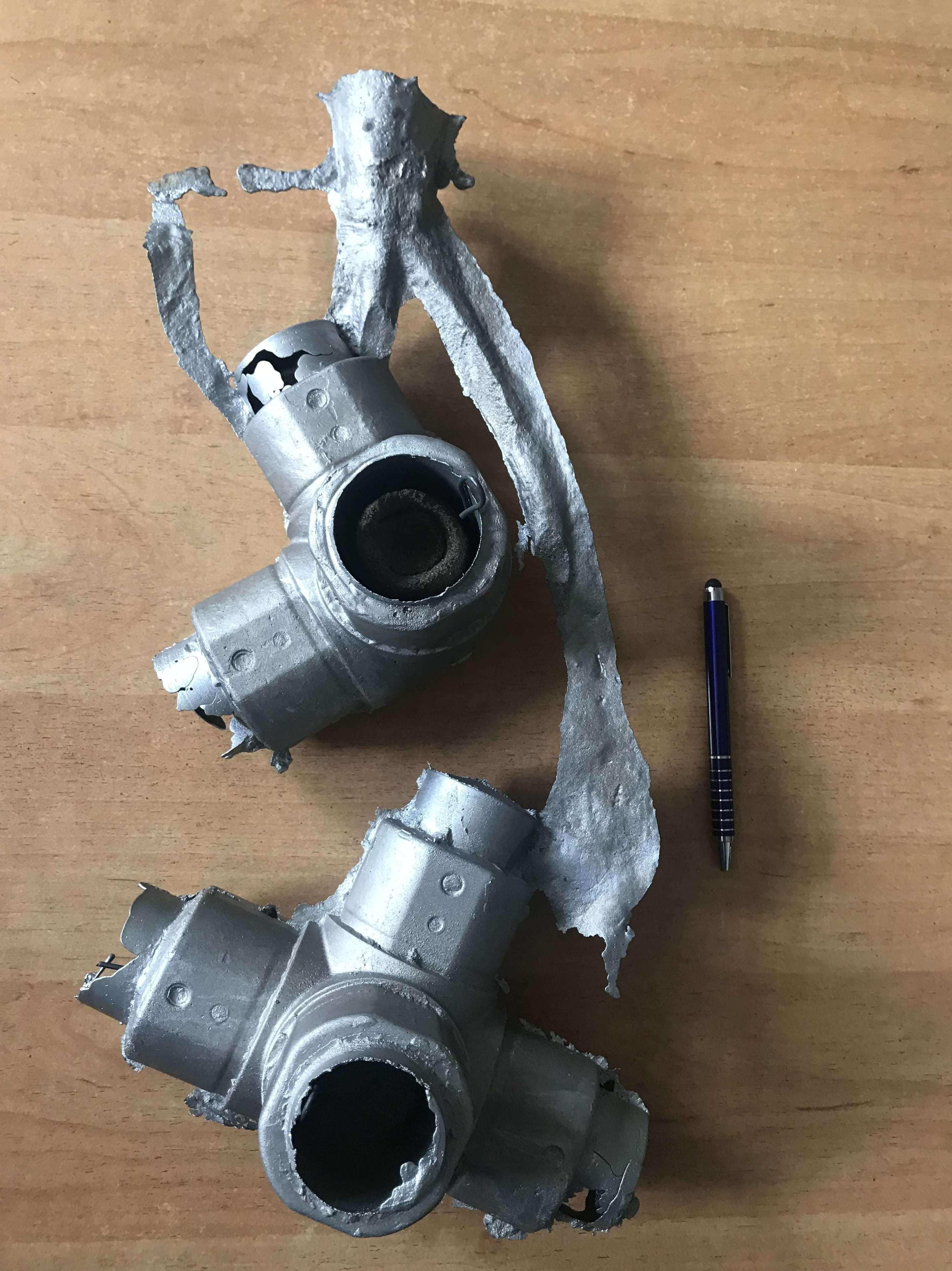 Fundición de codos para tuberías en aluminio