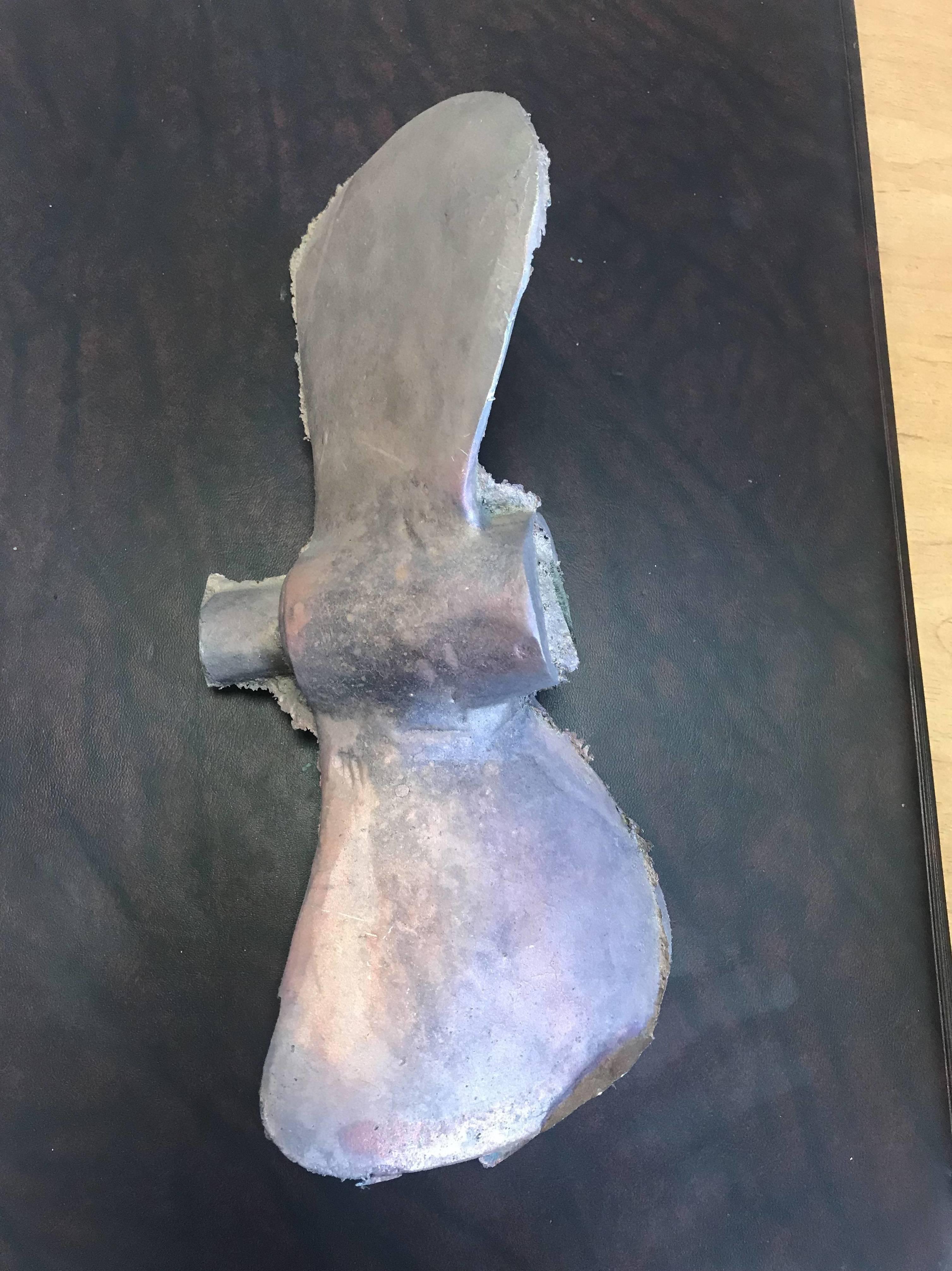 Hélice fundida en latón