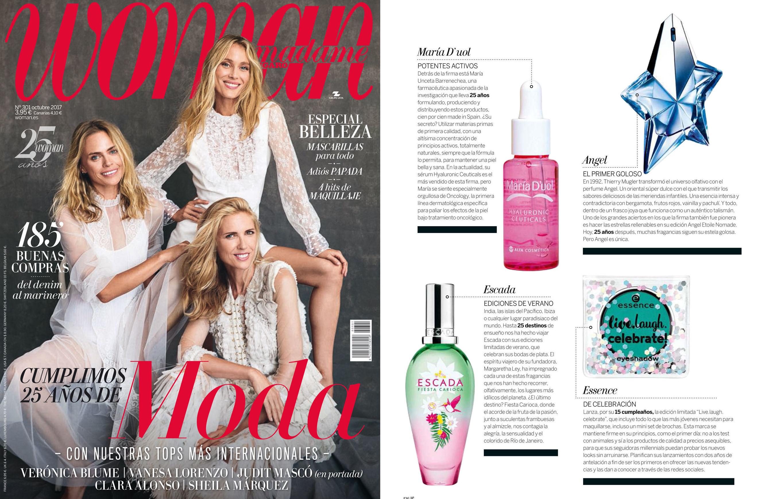 La revista WOMAN recomienda nuestro producto.