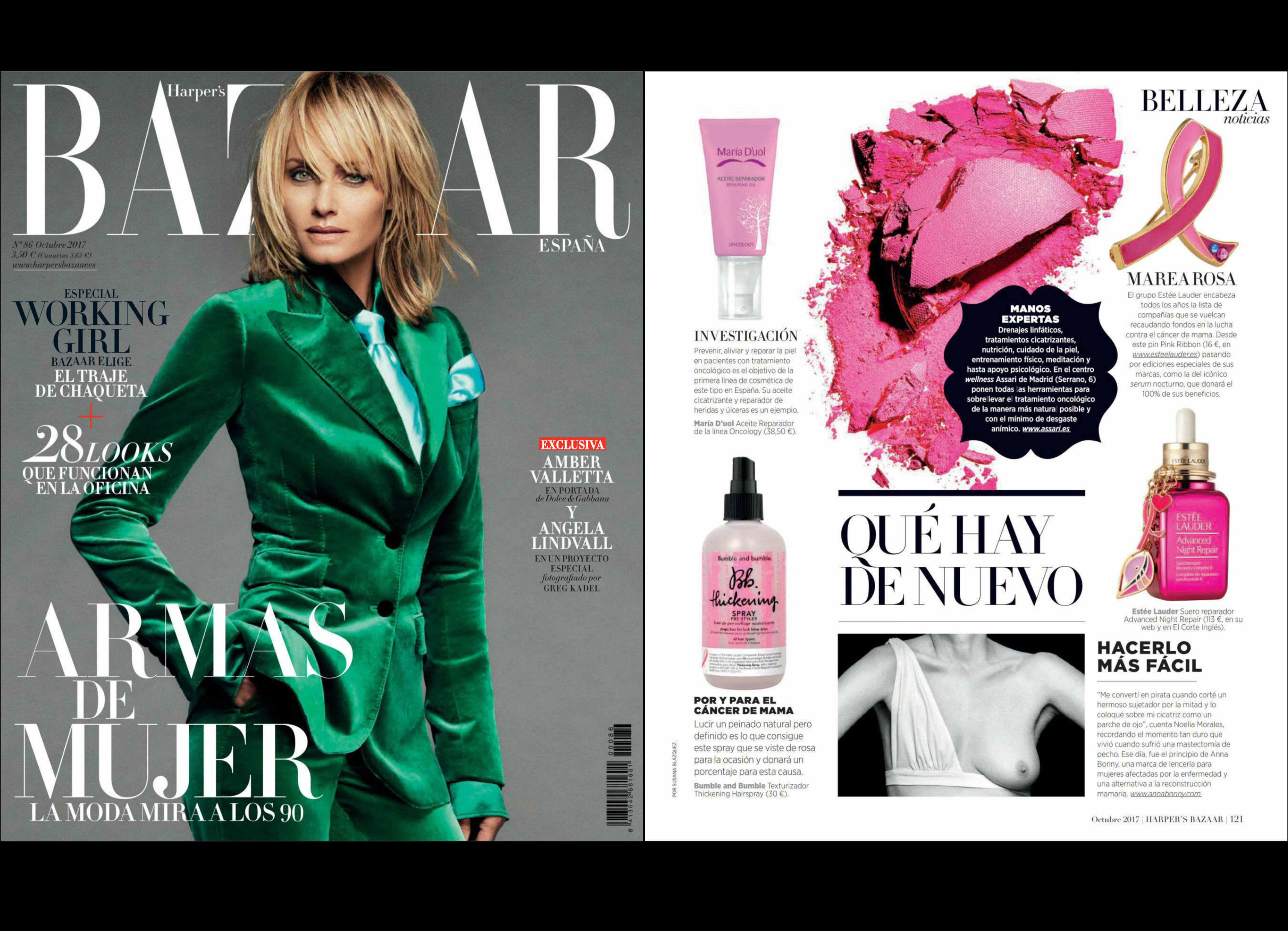 La revista HARPER´S BAZAAR recomienda nuestro producto de estética oncólogica
