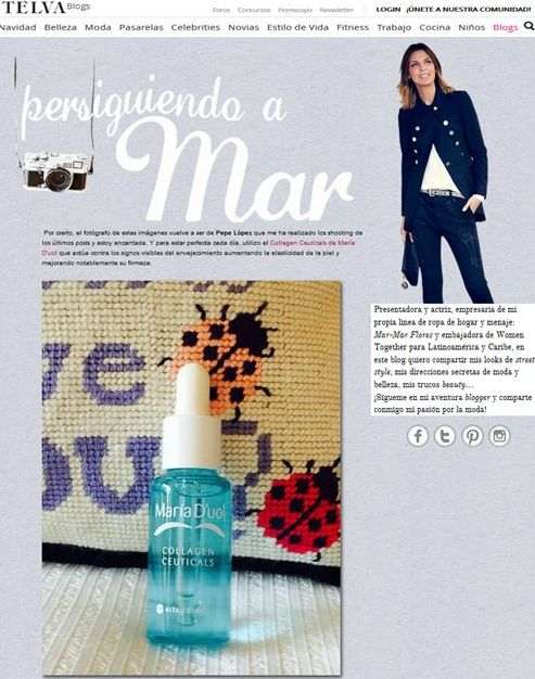Mar Flores y Collagen Ceuticals de María D´uol