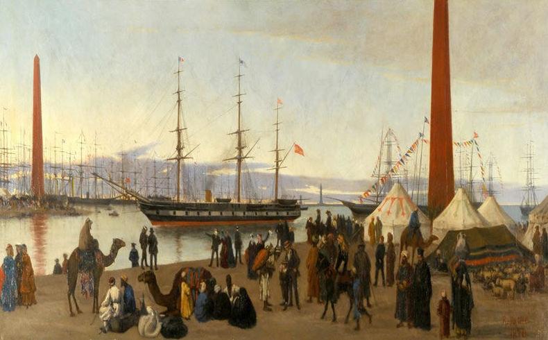 Un día como hoy se inaugura oficialmente el Canal de Suez