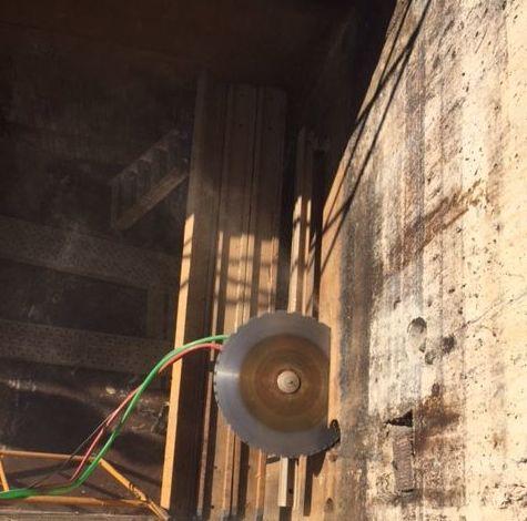 Corte de pared de hormigón