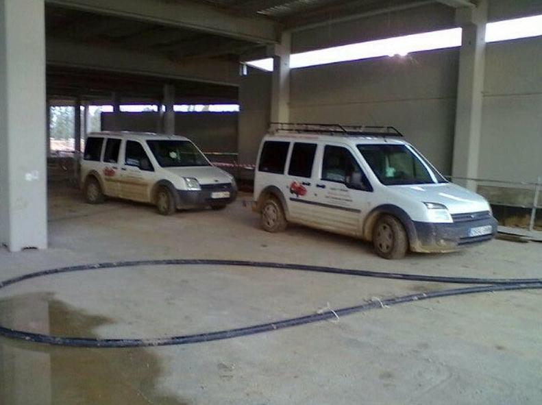 Flota de automóviles para el servicio de empresa