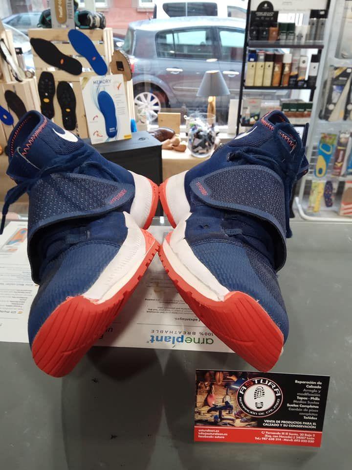 Reparación de suelas para zapatillas en León