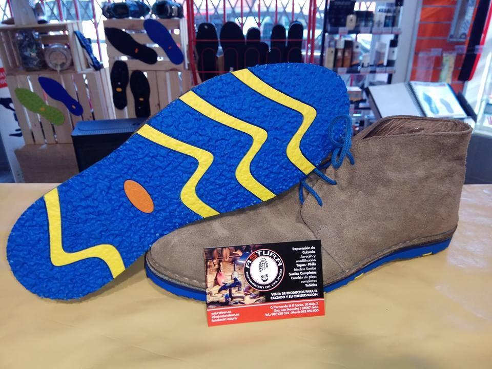 Cambio de suelas de zapatos en León