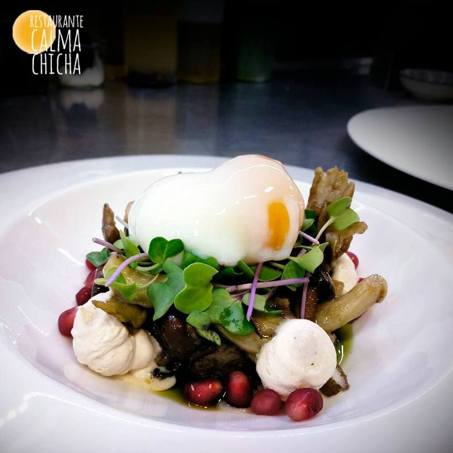 Sautéed wild mushrooms with foie and egg mousse