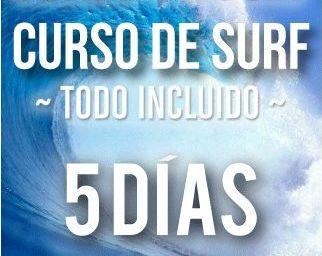 Curso de surf 5 días