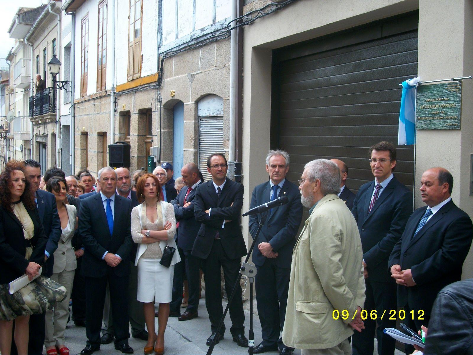 Homenaje Curros Enriques, Celanova