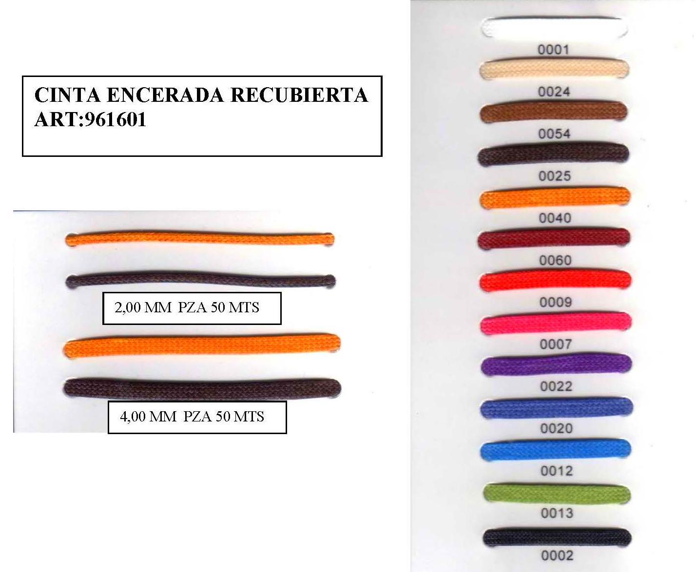 CINTA ENCERADA RECUBIERTA ART:961601