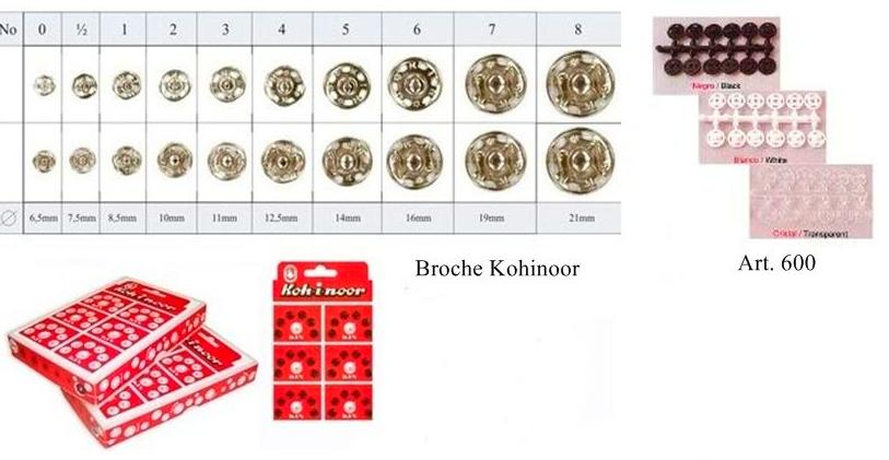 BROCHES KOHINOOR-BROCHES PLASTICO