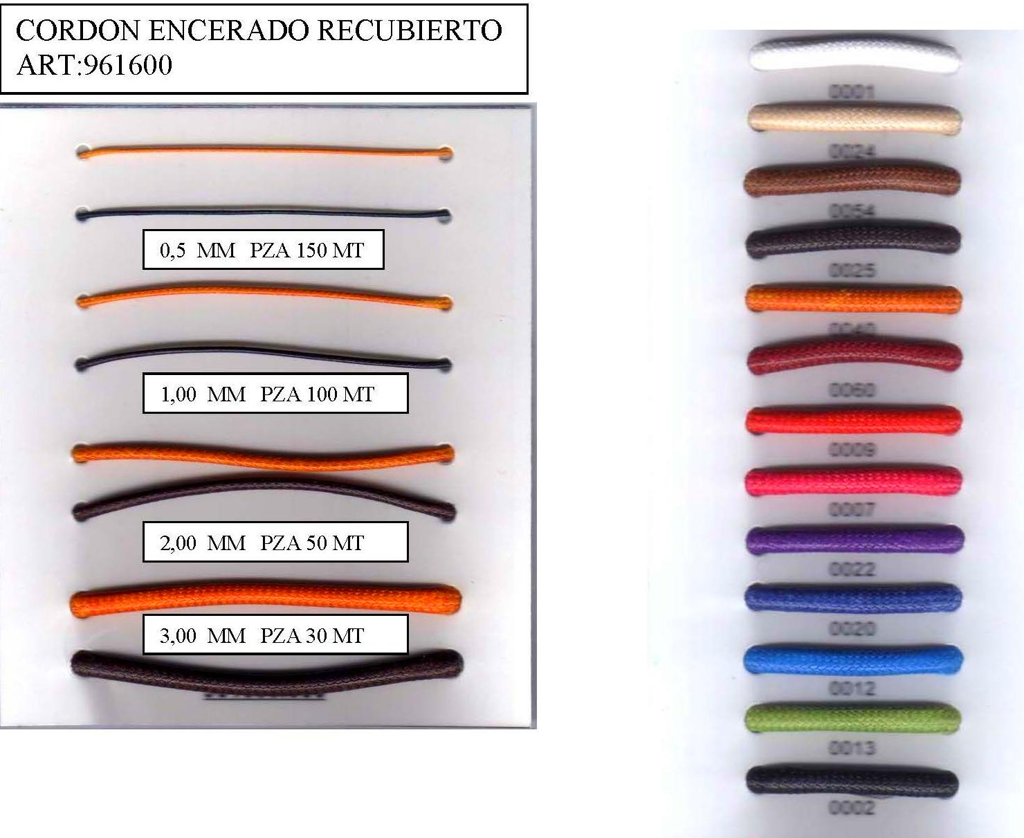 CORDON ENCERADO RECUBIERTO ART:961600